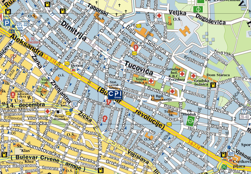 mapa beograda bulevar kralja aleksandra Kontakt   CPI Group   Beograd mapa beograda bulevar kralja aleksandra