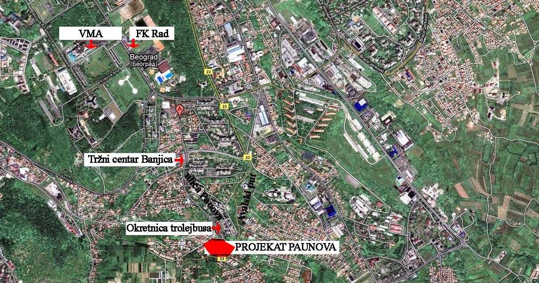 mapa banjica beograd Projekat Paunova   CPI Group   Beograd mapa banjica beograd